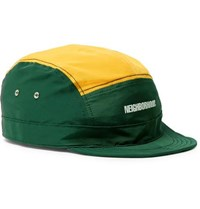 Neighborhood Printed Two Tone Cotton And Nylon Blend Hat Green