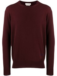 Alexander Mcqueen Cashmere And Wool Blend Sweater Red