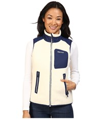Marmot Wiley Vest Cream Arctic Navy Women's Vest White