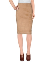 Sonia Rykiel Knee Length Skirts Camel