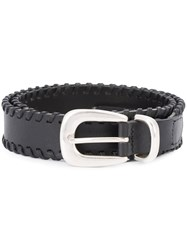 Rag And Bone Braided Belt Black