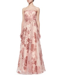 Kay Unger New York Strapless Lace Ball Gown