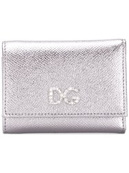Dolce And Gabbana Crystal Dg Wallet Silver
