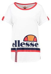 Ellesse Inigia Print Tshirt Optic White