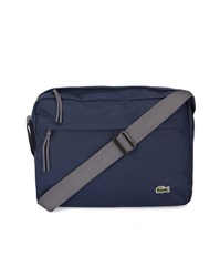 Lacoste Navy Front Pocket Messenger Bag Blue
