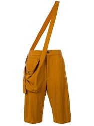 Chalayan Cross Body Strap Trousers Orange