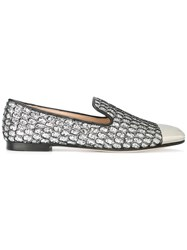 Giuseppe Zanotti Design Glitter Embellished Slippers Metallic