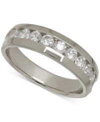 Macy's Men's Diamond Band In 14K White Gold 1 Ct. T.W.