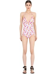 Mc2 Saint Barth Macaron Printed Lycra One Piece Swimsuit
