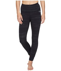 The North Face Motivation Strappy Leggings Tnf Black Animal Tex Jacquard Women's Casual Pants