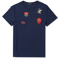Alexander Mcqueen Multi Badge Tee Blue