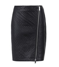Reiss Azure Quilted Leather Skirt Female Black