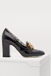 Gucci Gg Patent Leather Pumps Black