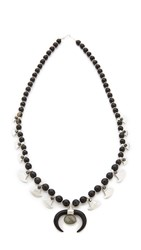 Chan Luu Black Wood Horn Necklace