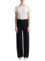 French Connection Talulah Straight Leg Trousers Black