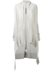 Rick Owens Waterfall Cardigan Nude Neutrals