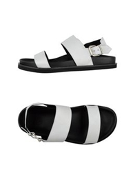 Bb Washed By Bruno Bordese Sandals White