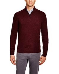 The Men's Store At Bloomingdale's Zip Mock Cashmere Sweater Wine