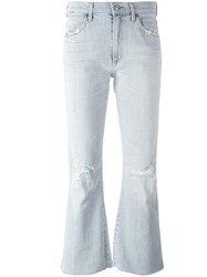 Citizens Of Humanity Distressed Flared Jeans Blue