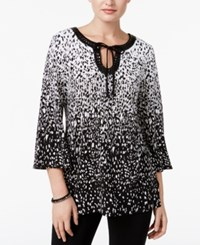 Jm Collection Petite Printed Embellished Tunic Only At Macy's Falling Embers