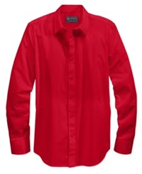 American Rag Men's Long Sleeve White Shirt Only At Macy's Sunset Red