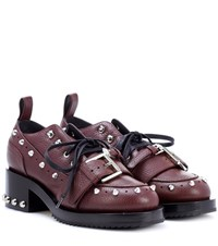 N 21 Studded Leather Shoes Purple