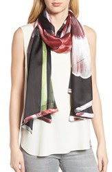 Ted Baker London Tranquility Long Silk Scarf Black