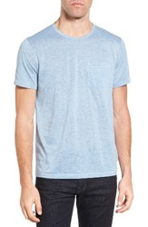 John Varvatos Men's Star Usa Burnout Trim Fit T Shirt Sky