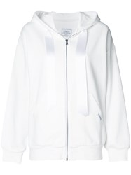 Forte Couture Embroidered Tiger Hoodie White