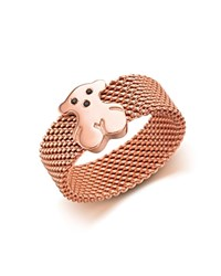 Tous Bear Mesh Ring Pink