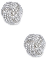 Giani Bernini Knot Stud Earrings In Sterling Silver Only At Macy's