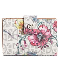 Giani Bernini Floral Print Signature Wallet Only At Macy's White