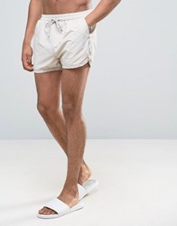 Selected Homme Runner Swim Shorts Pumice Stone White