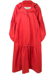 Golden Goose Deluxe Brand Oversized Fit Parka Red