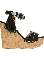 Ash 'Bliss' Wedge Sandals Black