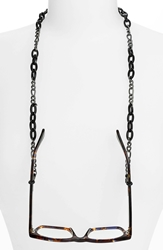 Corinne Mccormack 'Links' Eyewear Chain Gunmetal