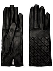 Bottega Veneta Nappa Leather Gloves Black