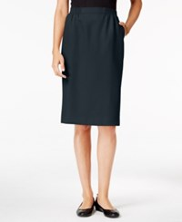 Alfred Dunner Petite Classic Pencil Skirt Navy