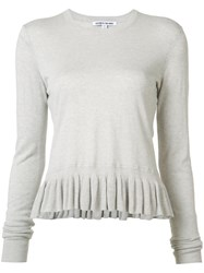 Elizabeth And James Ruffled Hem Jumper Grey