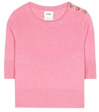 Barrie Cashmere Cropped Top Pink