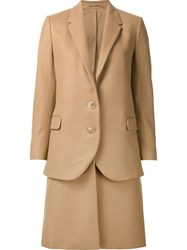 Neil Barrett Layered Overcoat Nude And Neutrals