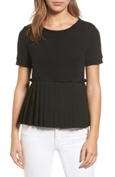 Halogenr Women's Halogen Pleat Peplum Tee