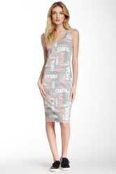 Boy Meets Girl Allover Graphic Dress Multi