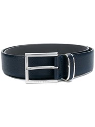 Hugo Boss Classic Logo Buckle Belt Blue