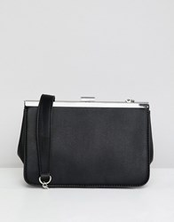 Stradivarius Rectangle Clutch Bag In Black