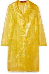 Sies Marjan Mie Croc Effect Vinyl Coat Yellow