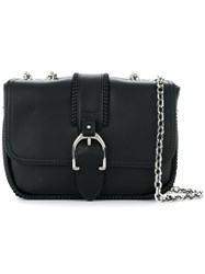 Longchamp Buckled Cross Body Bag Black