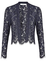 John Lewis Lace Jacket Navy