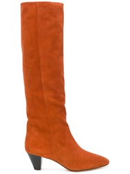 Isabel Marant Etoile 'Robby' Boots Yellow Orange