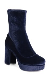 Miu Miu Women's Platform Boot Dark Blue